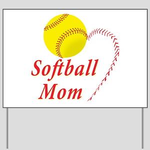 Softball mom Yard Sign