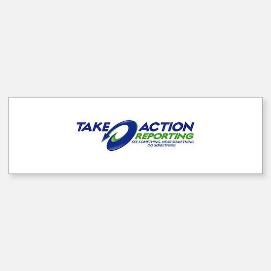 TAKE ACTION REPORTING Sticker (Bumper 10 pk)
