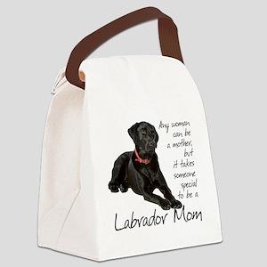 Black Lab Purse Canvas Lunch Bag