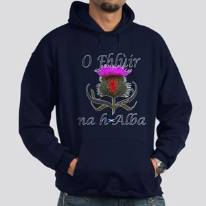 Flower of Scotland Gaelic Thistle Hoodie (dark)