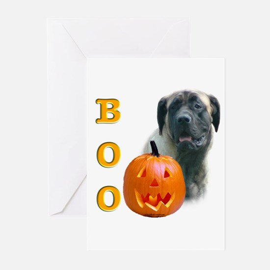 Halloween Fawn Mastiff Boo Greeting Cards (Package
