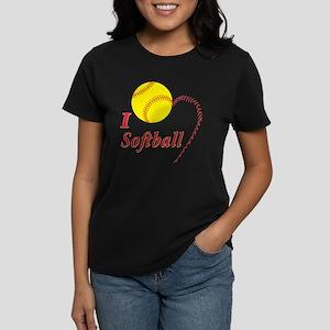Girls softball Women's Dark T-Shirt