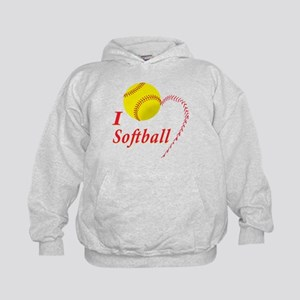 Girls softball Kids Hoodie