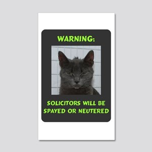 No Solicitations 20x12 Wall Decal