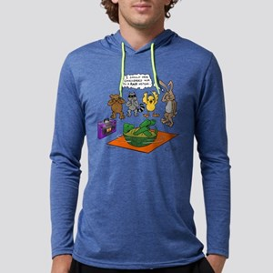"""""""Tortoise and the Hare Revisited Mens Hooded Shirt"""