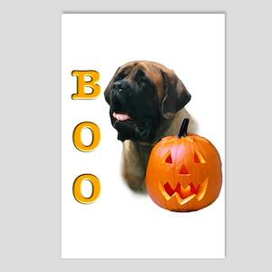 Halloween Apricot Mastiff Boo Postcards (Package o