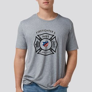 Firefighters Wife Patriotic Mens Tri-blend T-Shirt