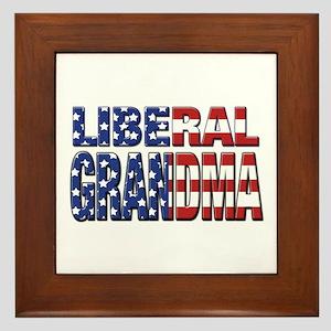 Liberal Grandma Framed Tile
