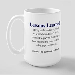 Lessons Learned Large Mug
