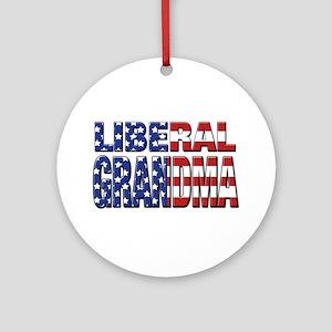 Liberal Grandma Ornament (Round)