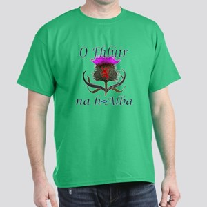 Flower of Scotland Gaelic Thistle Dark T-Shirt
