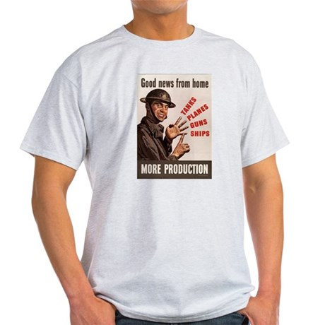 WWII POSTER GOOD NEWS FROM HOME Light T-Shirt
