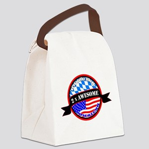 Bavarian American 2x Awesome Canvas Lunch Bag
