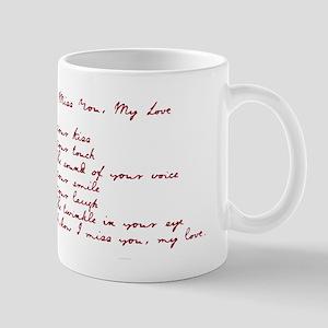 I Miss You My Love Mug