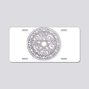Purple Pentacle Aluminum License Plate