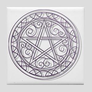 Purple Pentacle Tile Coaster