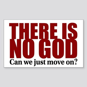 There is no God Sticker (Rectangle)