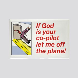 If God is Your Co-Pilot Rectangle Magnet