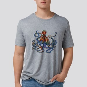 Wild Octopus Mens Tri-blend T-Shirt