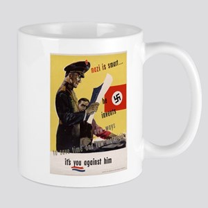 WW2 POSTER A NAZI IS SMART HE INVENTS Mug