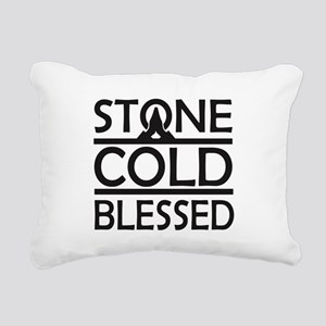 Stone Cold Blessed Rectangular Canvas Pillow