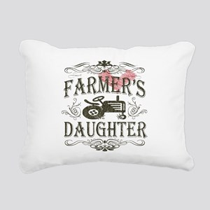 farmer-white-distress Rectangular Canvas Pillo