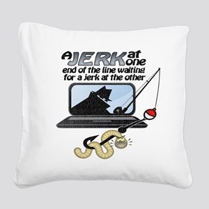worm-lights Square Canvas Pillow