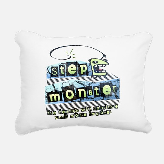 Step Monster Rectangular Canvas Pillow