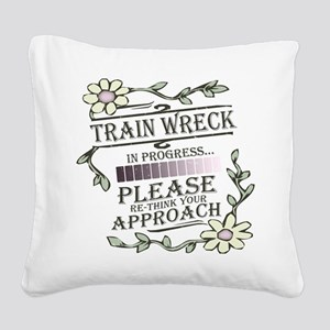 wreck-lights Square Canvas Pillow