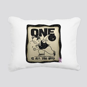 All You Need (Bowling) Rectangular Canvas Pillow