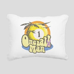 One Balll Man Darks Rectangular Canvas Pillow