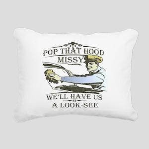 pop-the-hood-lights Rectangular Canvas Pillow