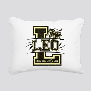 leo-white-distress Rectangular Canvas Pillow