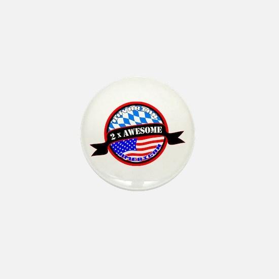 Bavarian American 2x Awesome Mini Button
