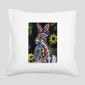 bunny Square Canvas Pillow