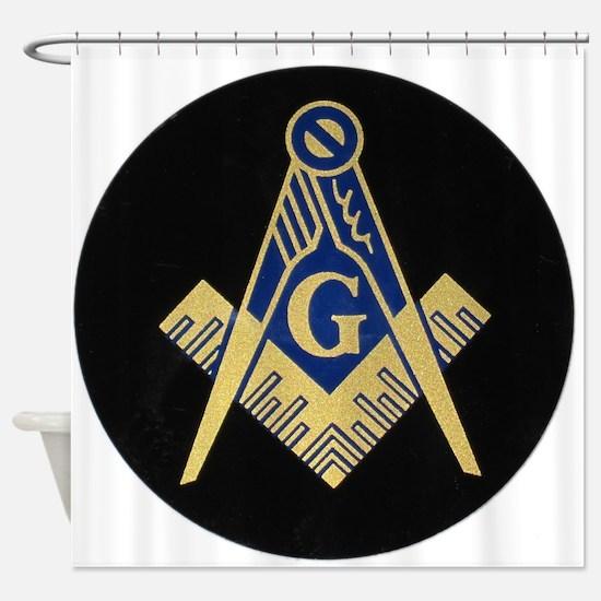 Simply Masonic Shower Curtain