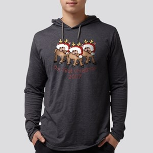 our first christmas deer triplet Mens Hooded Shirt