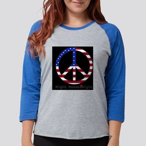 peacesign_hat Womens Baseball Tee