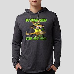 wallabiesshrt Mens Hooded Shirt