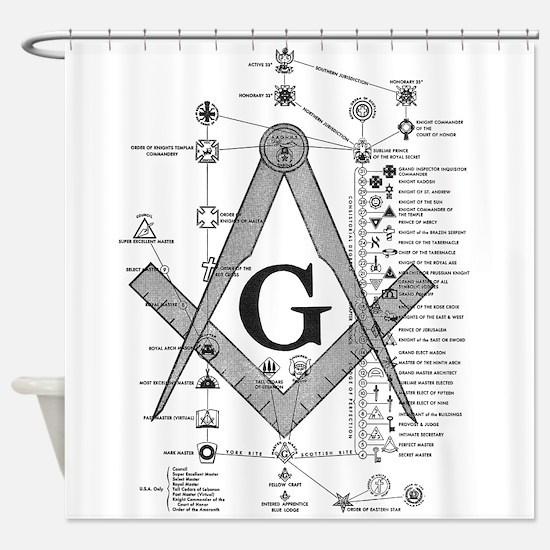 Masonic Bodies Shower Curtain