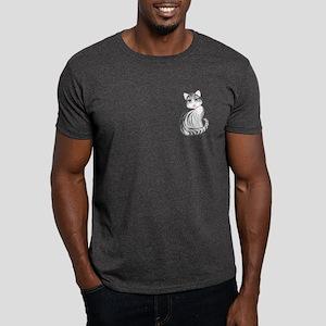 cute gray tiger kitty Dark T-Shirt