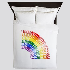 Scribbly Rainbow (Down) Queen Duvet