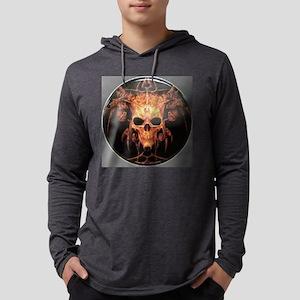 skull demon Mens Hooded Shirt