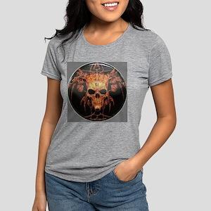 skull demon Womens Tri-blend T-Shirt