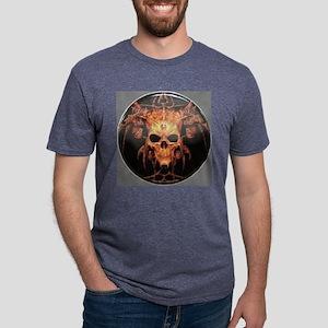 skull demon Mens Tri-blend T-Shirt