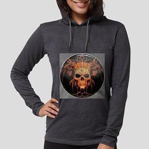 skull demon Womens Hooded Shirt