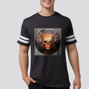 skull demon Mens Football Shirt