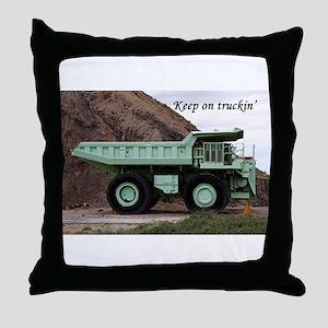 Keep on truckin': coal mining truck Throw Pillow