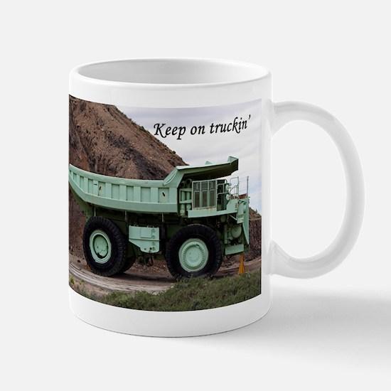 Keep on truckin': coal mining truck Mug