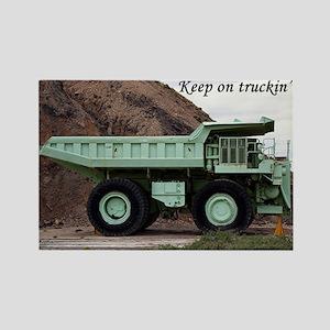 Keep on truckin': coal mining truck Rectangle Magn